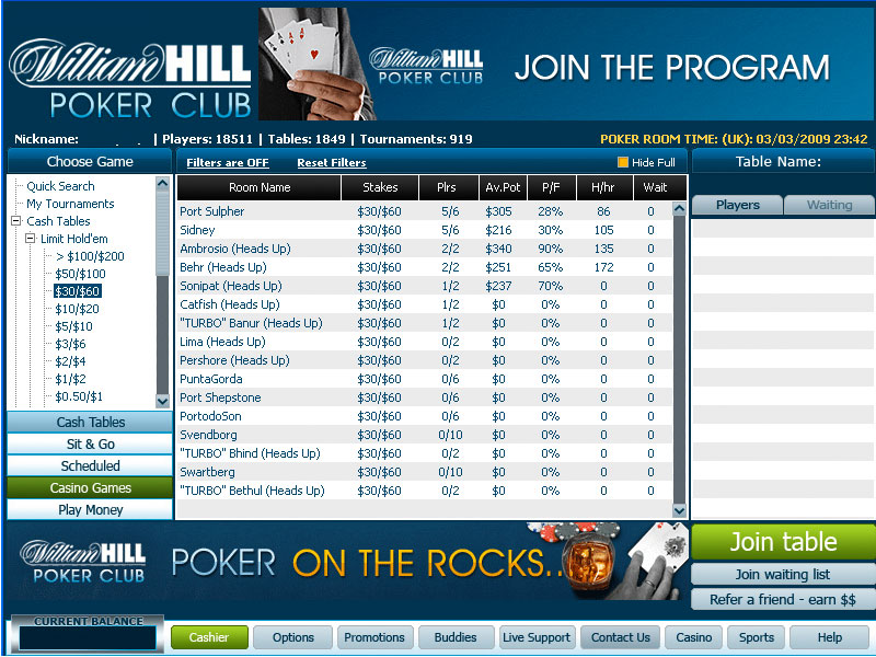 Williamhill score bumbet poker - 176566