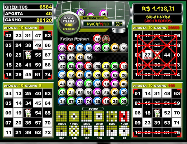 Video bingo pachinko play´n go - 334206
