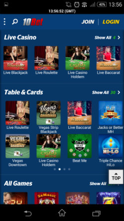 10bet mobile casinos gamevy - 87500