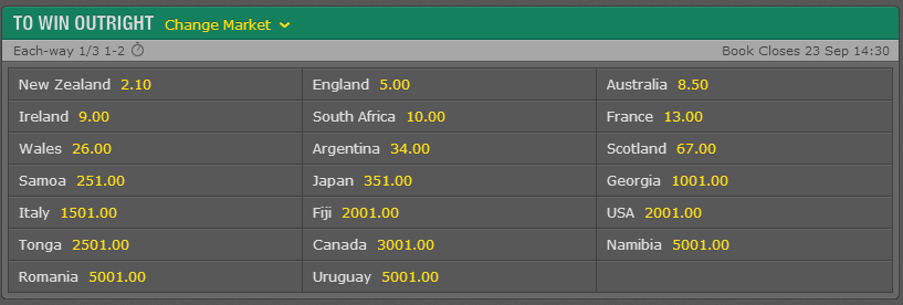 Bet365 no rugby casinos on - 840332