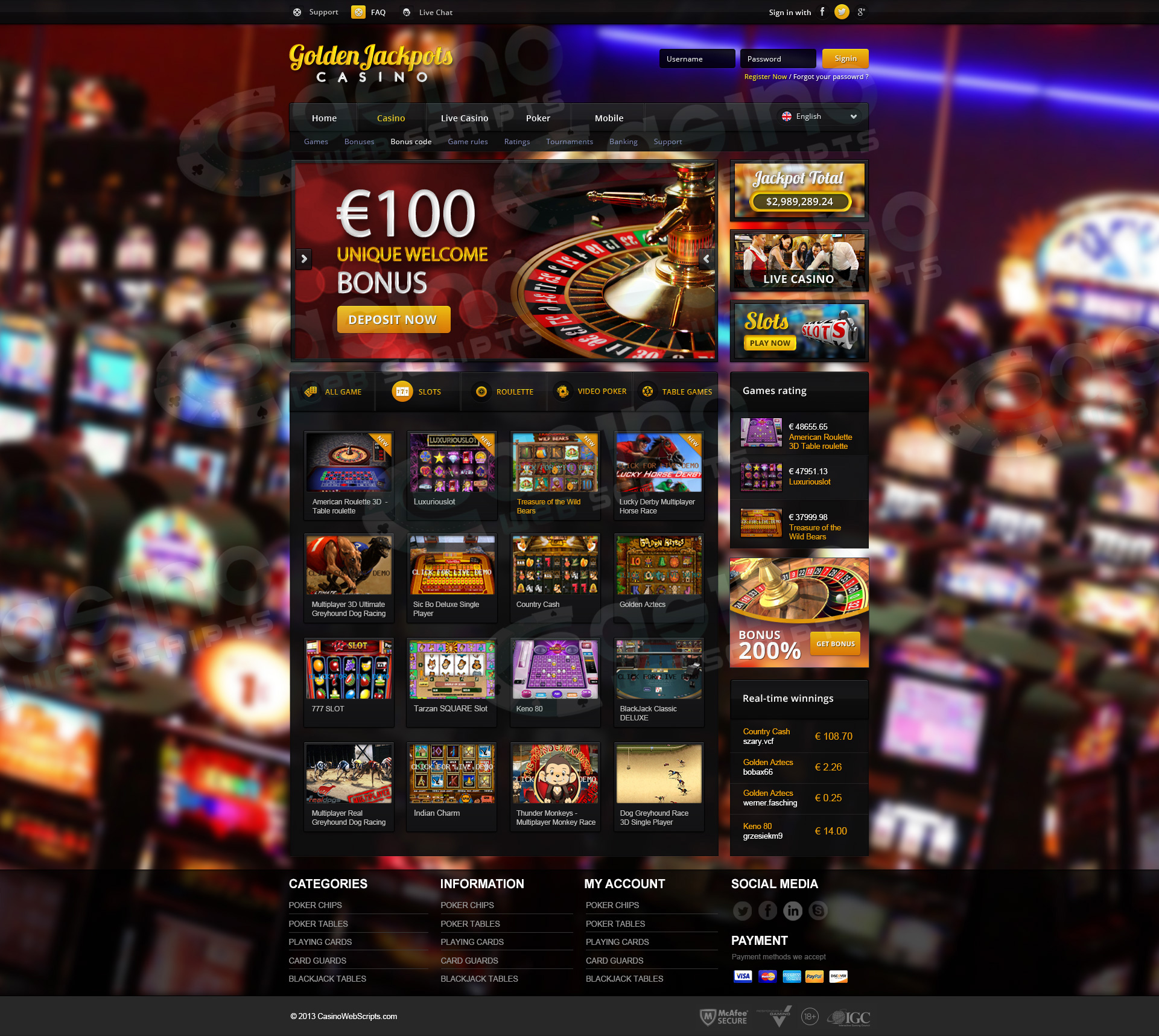 Casinos saucify Noruega casino web scripts - 905102
